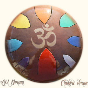 AM Drum - CUSTOM MADE CHAKRA DRUM - SALE handmade unique - healing therapy drum