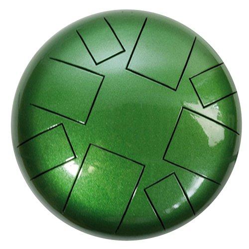 Tankdrum A-Moll, 30 cm, incl. bolso + palillos verde barato