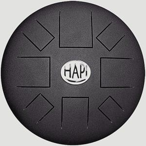 Hapi Drum Slim Handpan Tank Drum Negro desde arriba