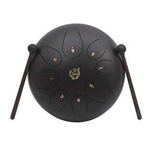 MMBAT Healifty Mini Handpan Negro con mazos
