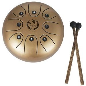 MMBAT Healifty Steel Tongue Drum Dorado con mazos