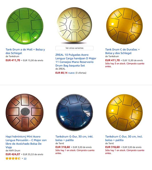 steel tongue drum comprar en Amazon